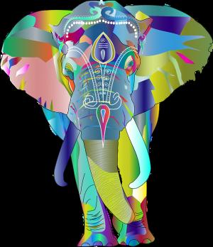 Elefante en laberinto
